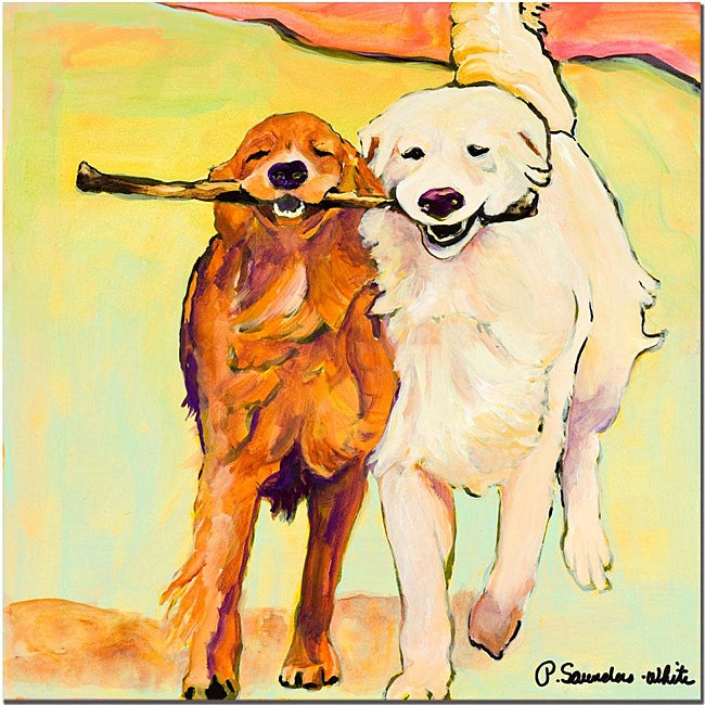 Pat Sanders-White 'Stick with Me' Canvas Art