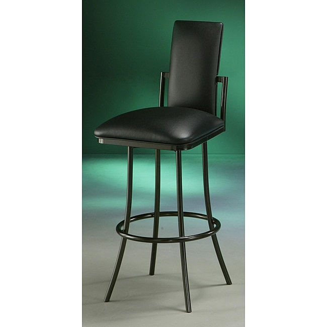 Genova 30-inch Black Bar Stool