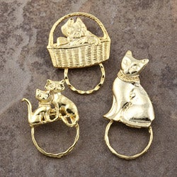 Detti Pin GoldPind Cat Glasses Holder (Set of 3)