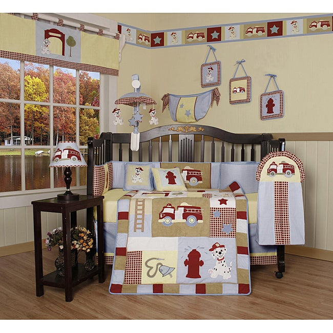 Geeny Fire (Red) Truck 13-piece Crib Bedding Set (2016-Be...