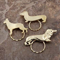 Detti Pin Gold-plated Dogs Glasses Holder (Set of 3)