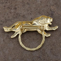 Detti Pin Gold-plated Wild Animals Glasses Holder (Set of 3) - Thumbnail 1