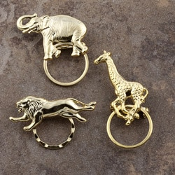 Detti Pin Gold-plated Wild Animals Glasses Holder (Set of 3)