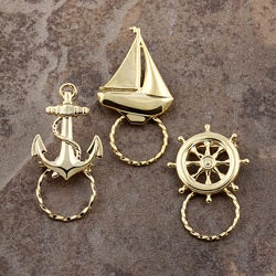Detti Pin GoldPind Sailboat Glasses Holder (Set of 3)