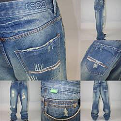 Reco Jeans Men's Lewton Polygala Relaxed Jeans - Thumbnail 1