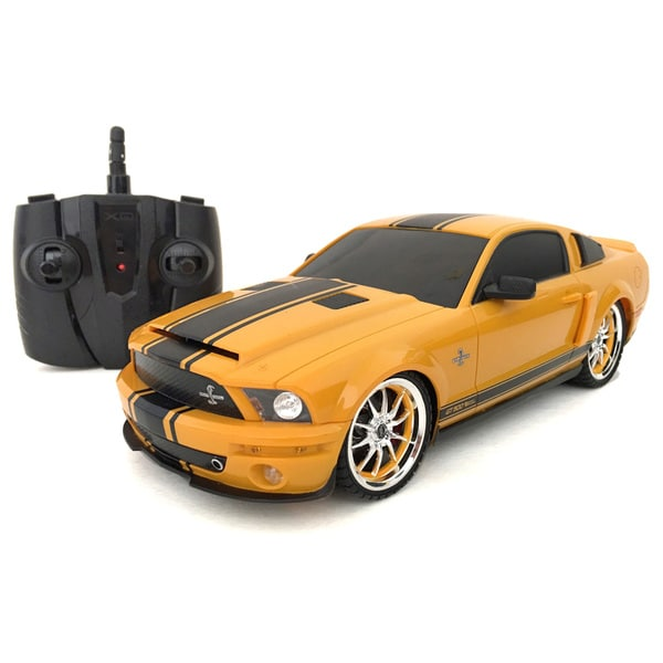 2.4 GHz Multi-channels Remote Control 1:18-scale Ford Shelby GT500 Super Snake RC Ford Mustang (Yellow)