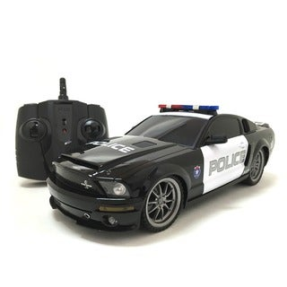 2.4 GHz Remote Control 1:18-scale Ford Mustang Shelby GT350 Multi-channel RC Police Car