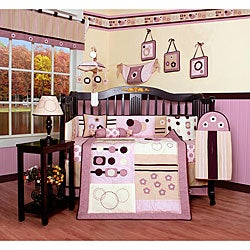 Pink Artist 13-piece Crib Bedding Set