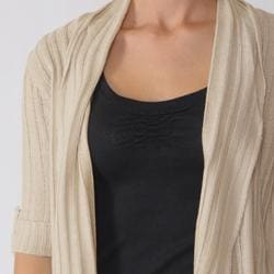 Ci Sono by Adi Junior's Elbow Sleeve Ribbed Duster