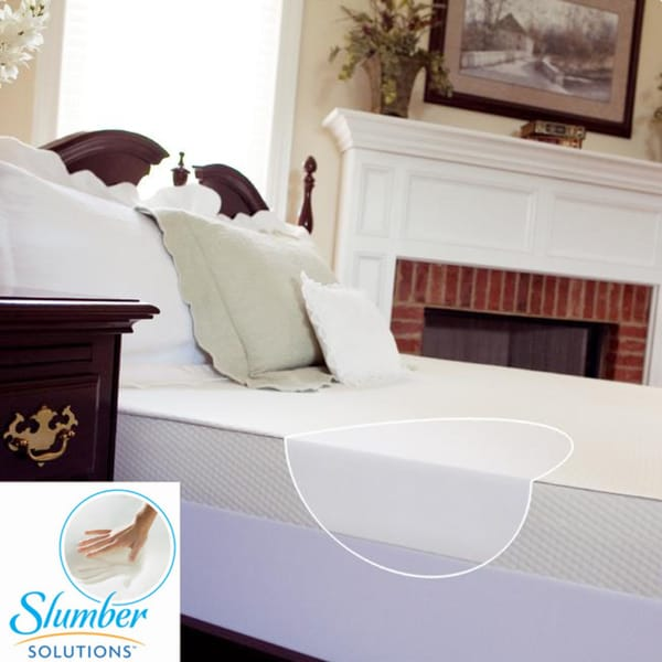 Slumber Solutions 4-inch Twin/ Full-size Memory Foam Mattress Topper with Waterproof Cover
