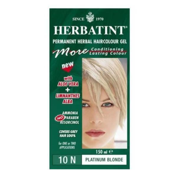 Herbatint 10N Platinum Blonde Permanent Herbal 4.56-ounce Haircolor Gel (Pack of 6)