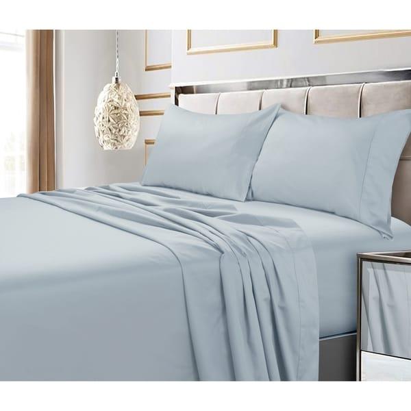 ALL Size /& ALL Deep Pocket Light Grey Stripe Bed Sheet Sets 100/% Cotton 1000-TC