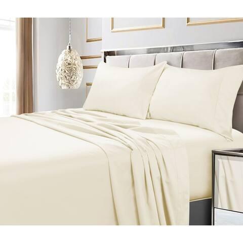 Egyptian Cotton 600 Thread Count Extra Deep Pocket Bed Sheet Set
