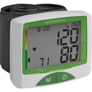 Veridian Jumbo Screen Premium Digital Blood Pressure Wrist Monitor