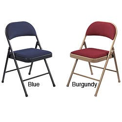 Tremendous Nps Commercialine Fabric Padded Folding Chair Pack Of 4 Overstock Com Shopping The Best Deals On Office Chairs Pdpeps Interior Chair Design Pdpepsorg