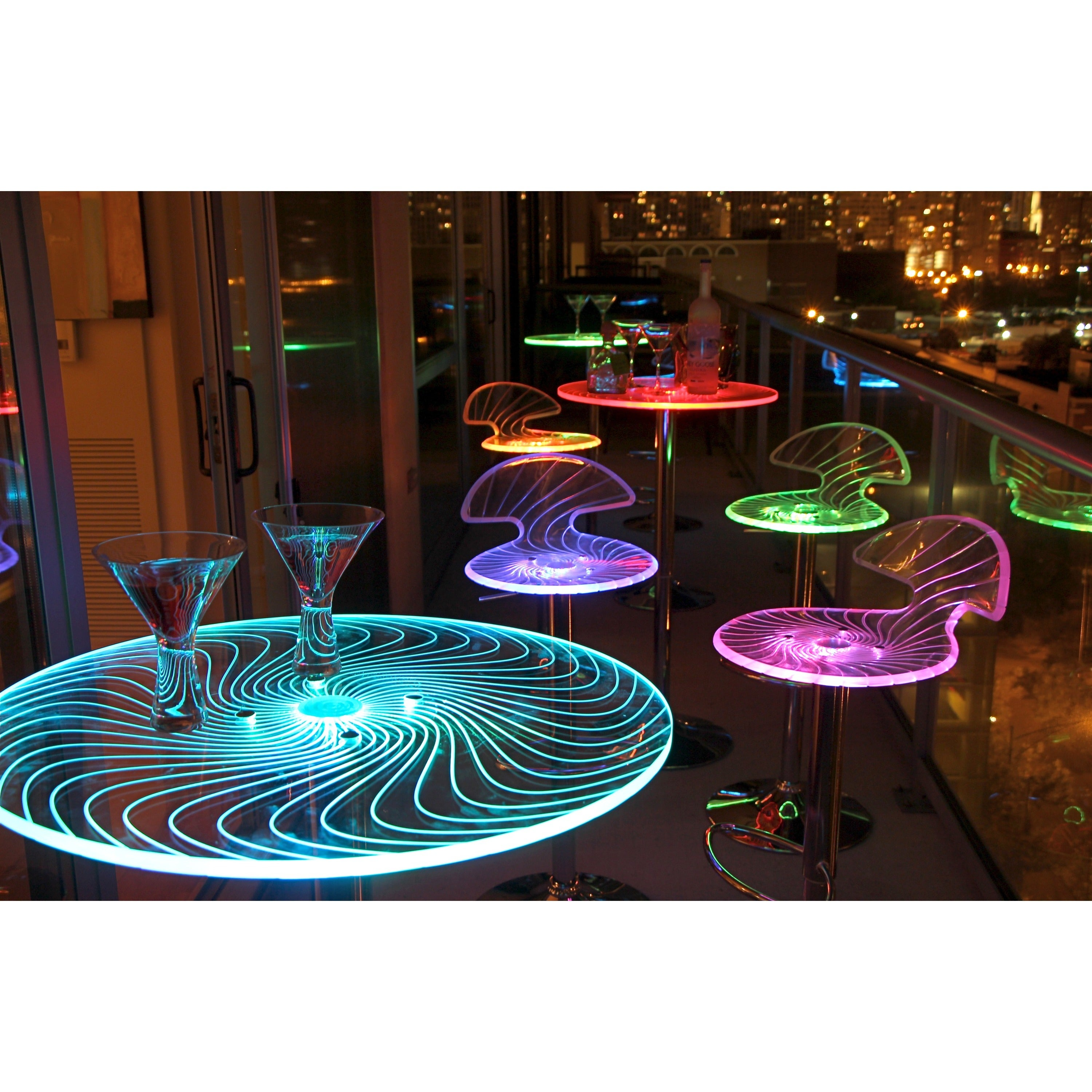 Picture of: Porch Den Starbuck Metal Acrylic Led Light Up Bar Table On Sale Overstock 5235336
