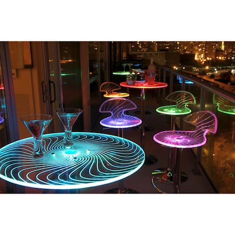 Porch & Den Starbuck Metal/ Acrylic LED Light-Up Bar Table