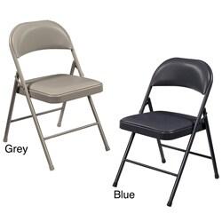 nps vinyl padded folding chair pack of 4
