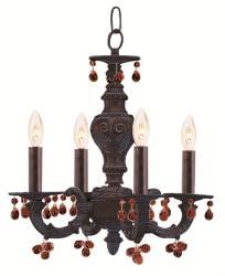 Crystorama Sutton 4-light Ventian Bronze Mini Chandelier - Thumbnail 1