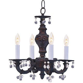 Crystorama Sutton 4-light Venetian Bronze Mini Chandelier