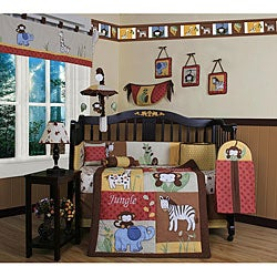 Geenny Amazon Jungle 13-piece Crib Bedding Set