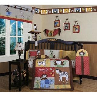 Geenny Amazon Jungle 13-piece Crib Bedding Set