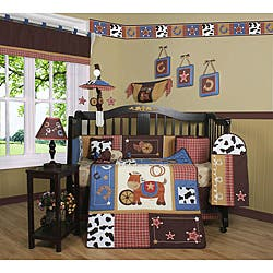 Geenny Western Cowboy Horse 13-piece Crib Bedding Set|https://ak1.ostkcdn.com/images/products/5235501/Western-Cowboy-Horse-13-piece-Crib-Bedding-Set-P13059333.jpg?impolicy=medium