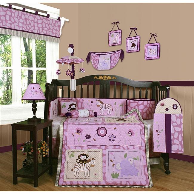 Geenny Animal Kingdom 13-piece Crib Bedding Set