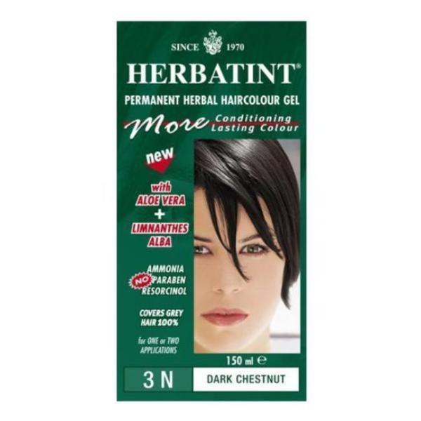 Herbatint 3N Dark Chestnut Permanent Herbal 4.56-ounce Haircolor Gel (Pack of 3)