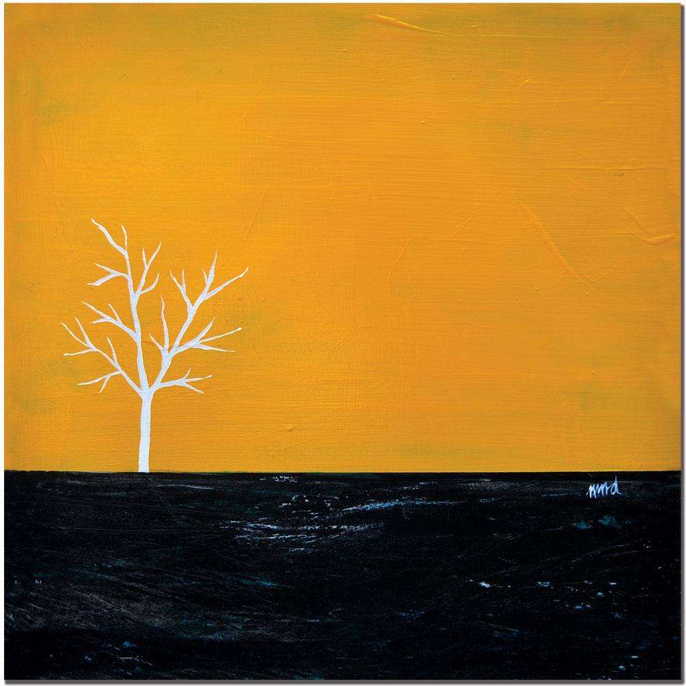 Nicole Dietz 'Yellow on White Series' Canvas Art