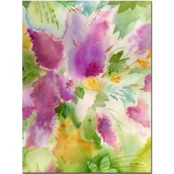Sheila Golden 'Lilacs Blossoming' Canvas Art