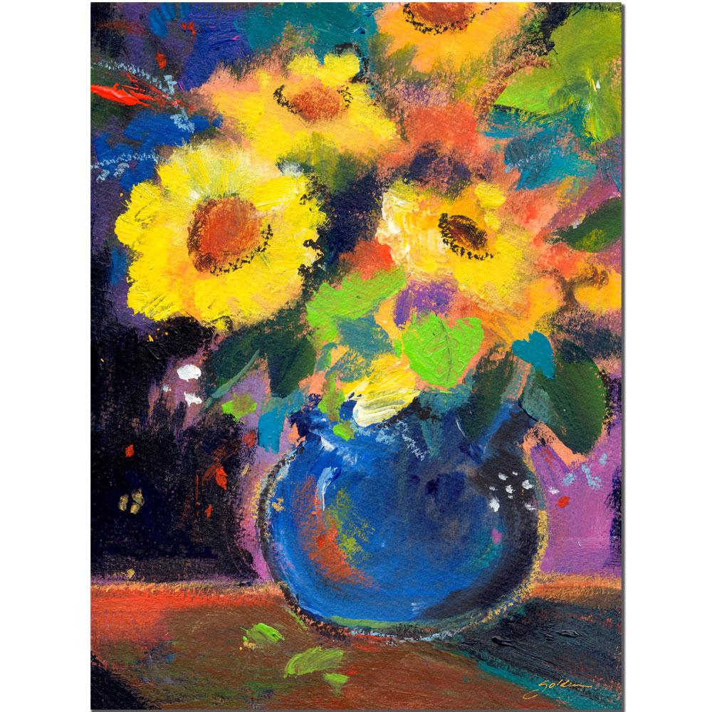 Sheila Golden Blue And Yellow Composition Canvas Art