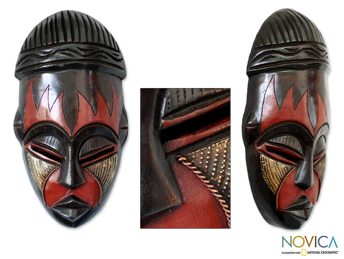 Sese Wood 'Harvest Joy' Mask (Ghana)