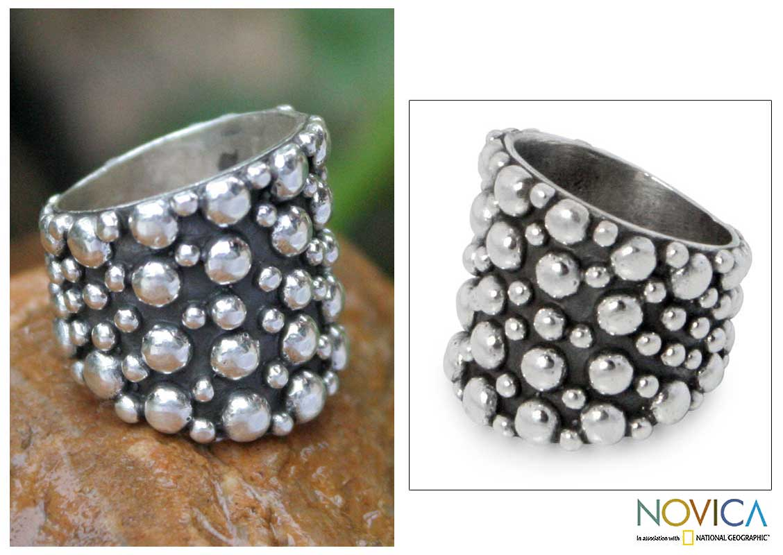 Handmade Sterling Silver 'Touch The Earth' Ring (Thailand)
