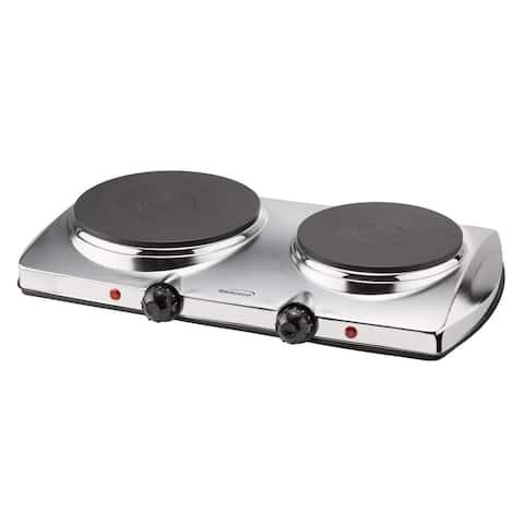 Bwood Ts 372 Electric 1440 Watt Stainless Steel Double Burner Hot Plate
