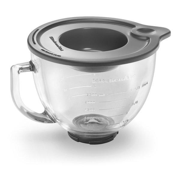 shop kitchenaid k5gb 5 quart glass bowl with lid free shipping rh overstock com