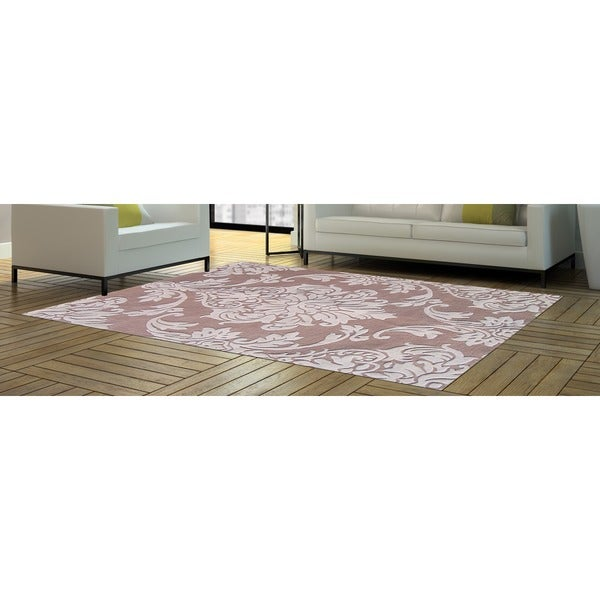 Alliyah Handmade Beige New Zealand Blend Wool Rug (8' x 10') - 8' x 10'