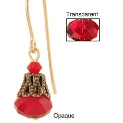 Gold Fill 'Ravishingly Red' Crystal Earrings