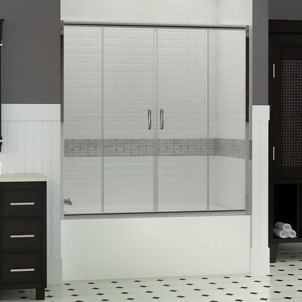 Dreamline Visions 56 60x58 Inch Frameless Sliding Tub Door