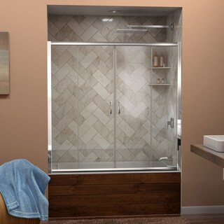 DreamLine Visions 56 to 60 in. Frameless Sliding Tub Door (2 options available)