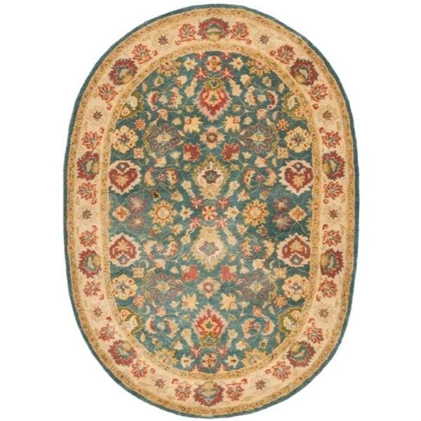 Shop Safavieh Handmade Jaipur Blue/ Beige Wool Rug