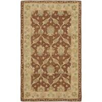 Safavieh Handmade Farahan Brown/ Taupe Wool Rug - 2'3 x 4'