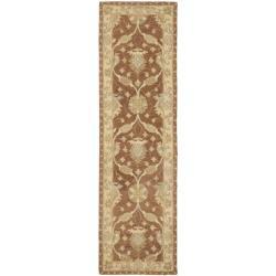 "Safavieh Handmade Farahan Brown/ Taupe Wool Rug - 2'3"" x 8' - Thumbnail 0"
