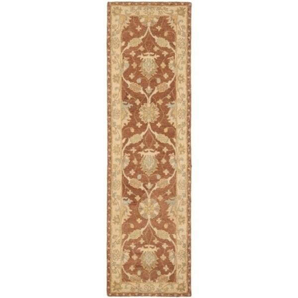 "Safavieh Handmade Farahan Brown/ Taupe Wool Rug - 2'3"" x 8'"
