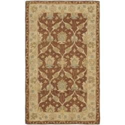 Safavieh Handmade Farahan Brown/ Taupe Wool Rug (3' x 5')