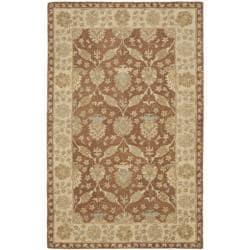 Safavieh Handmade Farahan Brown/ Taupe Wool Rug (5' x 8')