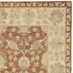 Safavieh Handmade Farahan Brown/ Taupe Wool Rug (6' x 9') - Thumbnail 1