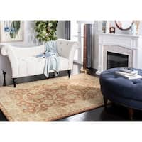 Safavieh Handmade Farahan Brown/ Taupe Wool Rug - 6' x 9'