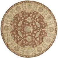 Safavieh Handmade Farahan Brown/ Taupe Wool Rug - 6' x 6' Round