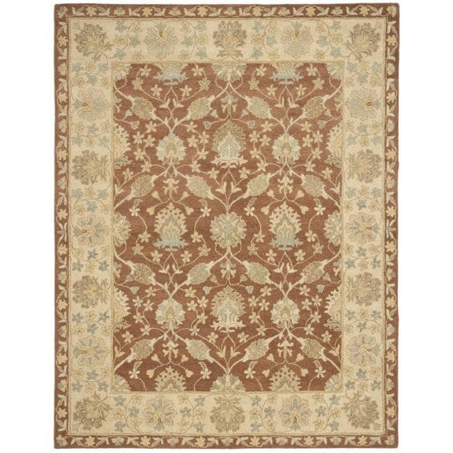 Safavieh Handmade Farahan Brown/ Taupe Wool Rug - 7'6 x 9'6